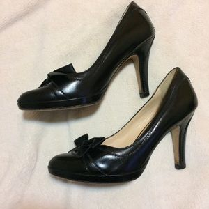 Cole Haan Nike Air Black bow heels